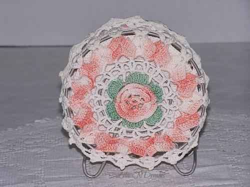 Crochet Vintage Doilies Napkin Letter Holder 1940s Era