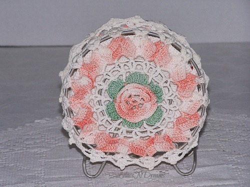 Crochet Vintage Doilies Metal Napkin Letter Holder