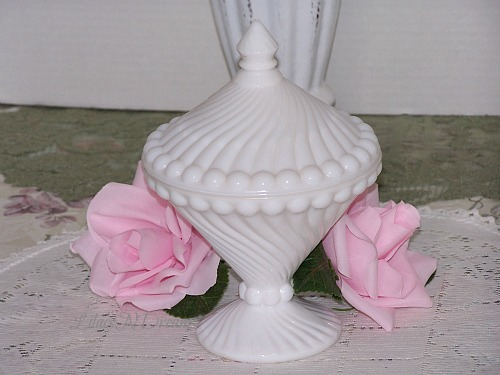 Westmoreland White Milk Glass Candy Dish Compote