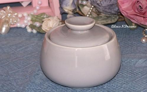 Vintage Sugar Bowl Homer Laughlin Gray Grey