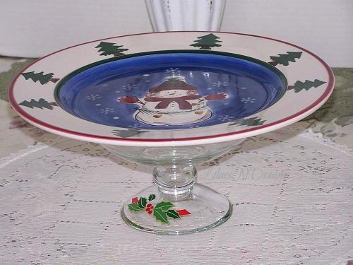 Cake Cupcake Stand Glass Dessert Pedestal Vintage Avon Inspired