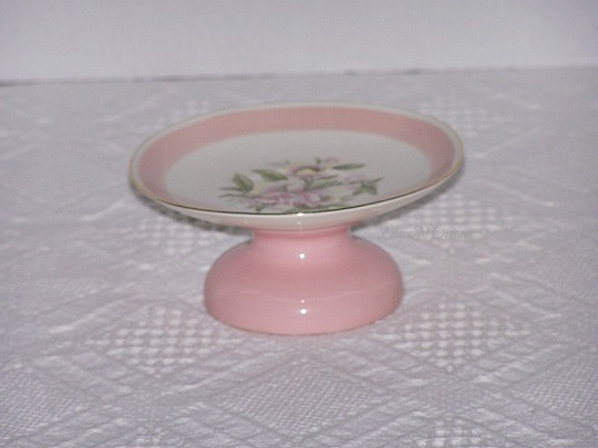Pink Cupcake Stand Pedestal Plate Candle Holder